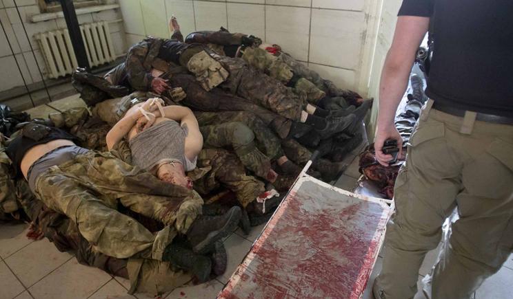 «Среди убитых очень много россиян», — сообщил боец первого батальона нацгвардии