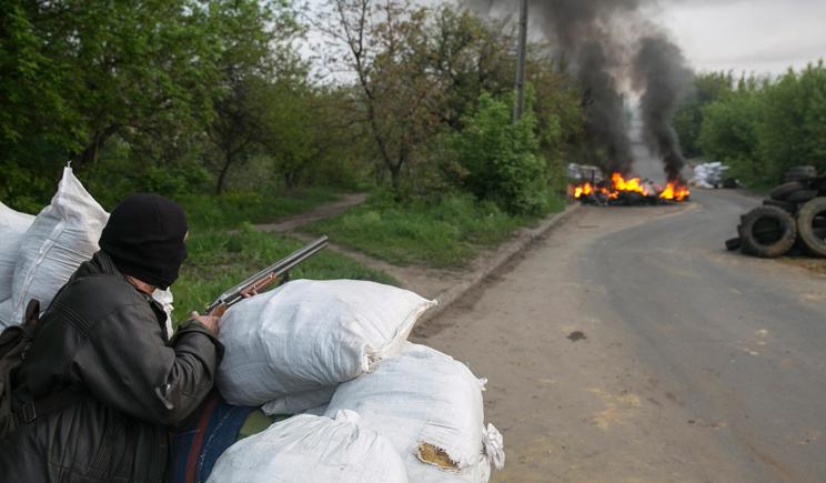 В Славянске снова стреляют (ВИДЕО)