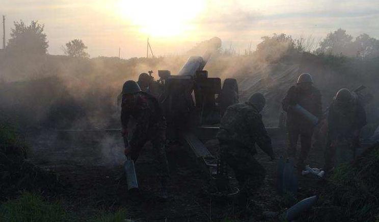 Артиллерийская дуэль с боевиками