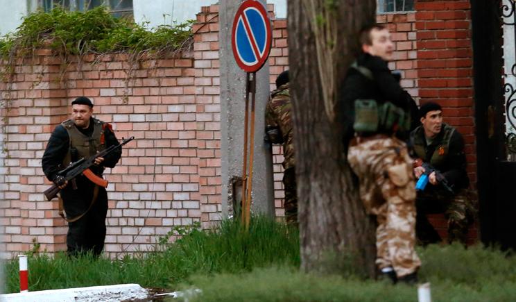 Террористы готовят штурм штаба Нацгвардии в Донецке