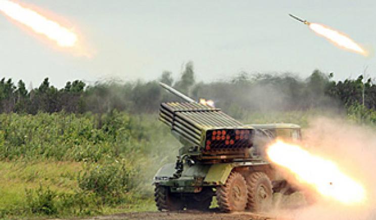 Украинские войска начали применяют тяжелую артиллерию