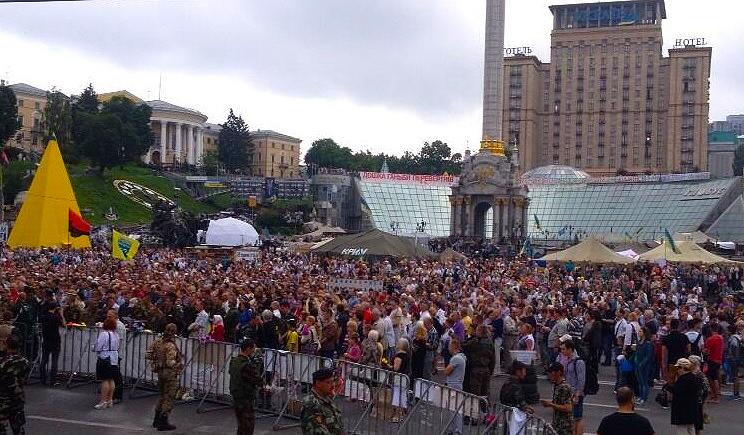 Увольнение глав МВД, СБУ и прокуратуры в очередной раз требует народное вече на майдане