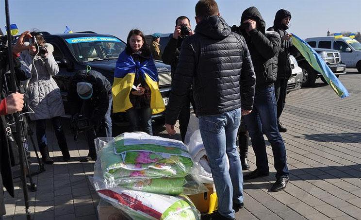 Днепропетровские «ультрас» и «женский батальон» объединились ради помощи украинской армии