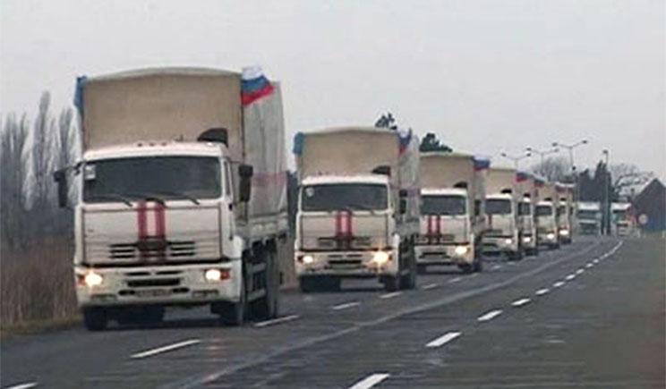 Колонна МЧС с гуманитарной помощью для украинцев выехала в Ростов-на-Дону