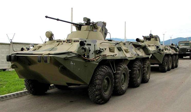 Госпогранслужба вблизи границы Украины фиксирует большое сосредоточение военной техники РФ