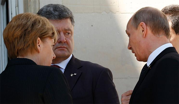 Порошенко, Путин, Меркель и Олланд договорились о проведении очередного раунда переговоров о мире
