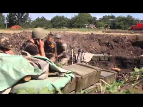 Артиллерийская дуэль расчета на горе Карачун (ВИДЕО)