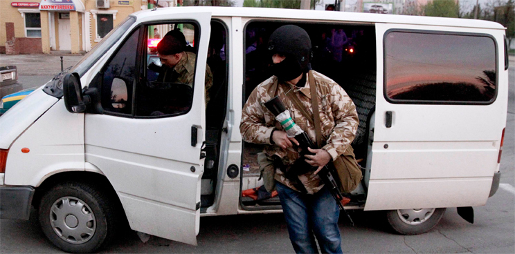 Трех милиционеров Амвросиевки освободили из плена
