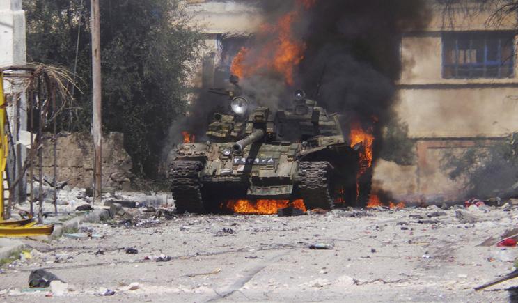 Как козаки танк российский уничтожили (ВИДЕО)