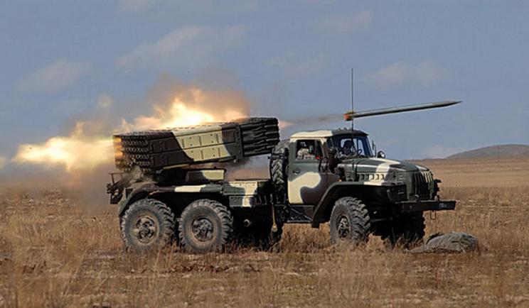 Этой ночью боевики применили систему залпового огня «Град»