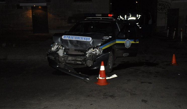 Патруль ГАИ в Киеве сбил человека