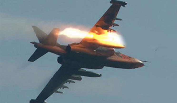 Российский истребитель сбил украинский самолет на территории Украины
