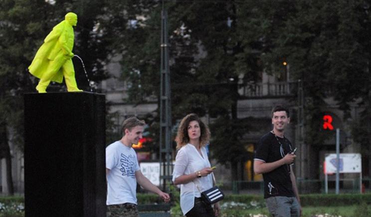 В Польше появился памятник Писающего Ленина