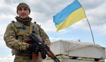 На окраине Горловки разведчики подняли флаг Украины