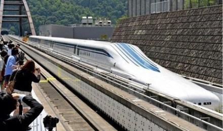 """Новый скоростной поезд """"Nagoya"""", развивает скорость до 500 километров в час."""