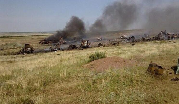 Место гибели ребят из 79-ой бригады (ФОТО)