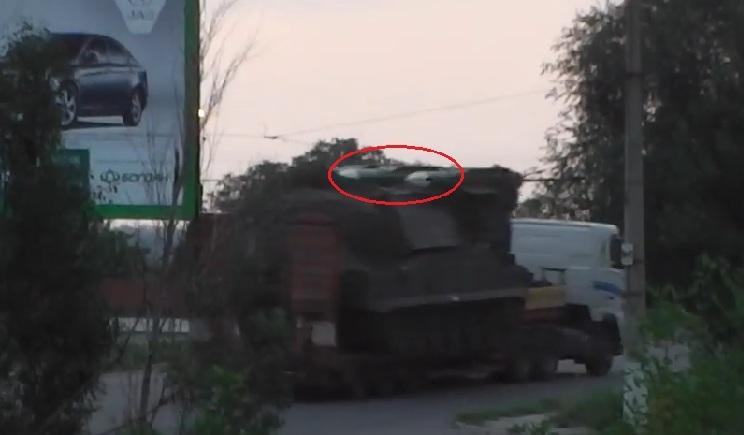 Террористы вывозят в Россию «БУК» у которого отсутствует одна ракета ФОТОдоказательство