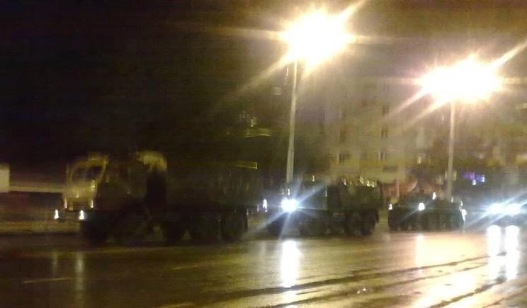 В Крыму партизаны напали на колону российской военной техники