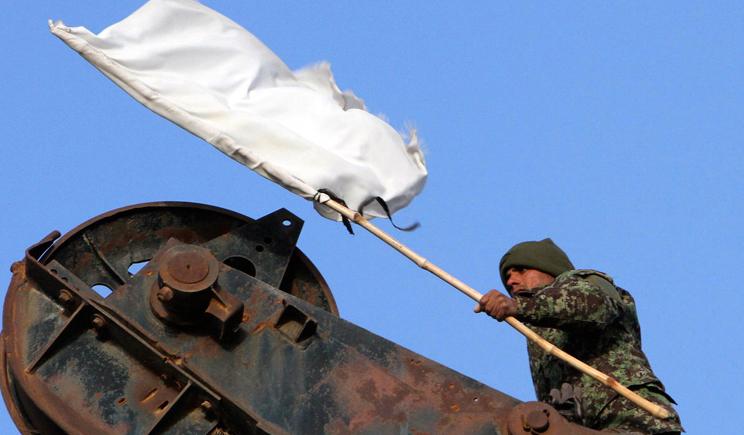 Террористы воспользовавшись белым флагом напали на силовиков