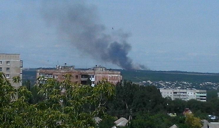 """Террористы снова обстреливают Луганск из """"Града"""""""
