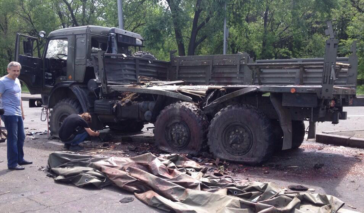 Украинские силовики уничтожили колону террористов