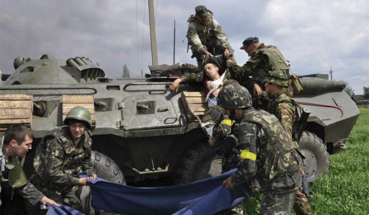 """Возле п.п. """"Изварино"""" на фугасе подорвалась боевая машина ВСУ, 4 силовиков ранены, – СНБО"""