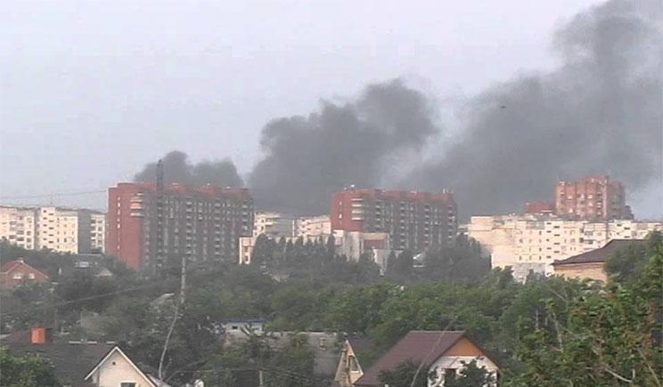 Силы АТО укрепляются в Луганске