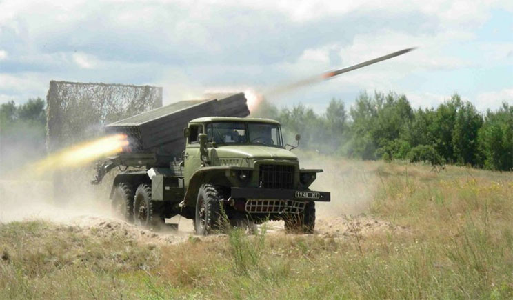 По позициям сил АТО «Грады» бьют с территории РФ, – Минобороны