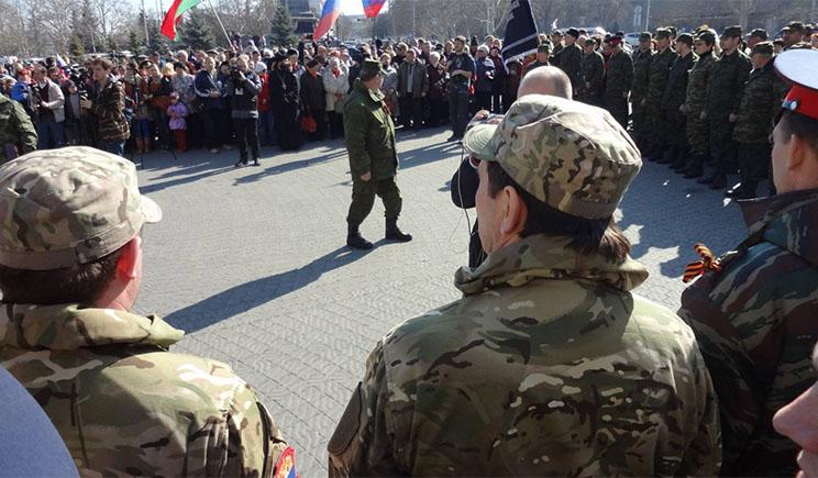 Донецкие ППСники предатели Украины приняли присягу на верность «ДНР»