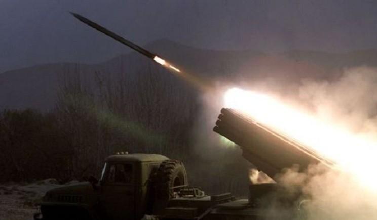 Боевики устанавливают «Грады» для обстрела Луганска