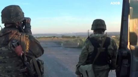Вооруженные силы Украины вместе с батальоном Азов начали наступление на Новоазовск