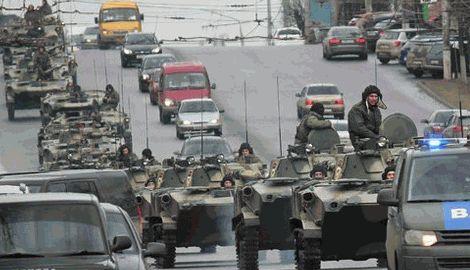 В Луганск вошло 300 единиц военной техники РФ