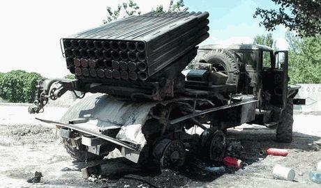 Силы АТО уничтожили две установки «Град» вместе с террористами