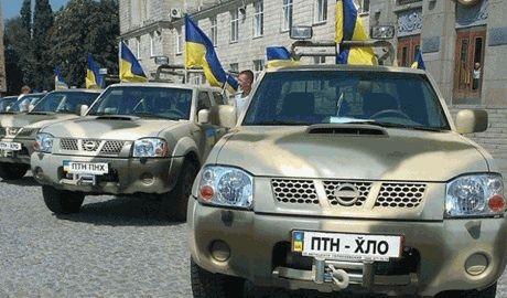 """Украинцы Америки подарили батальону """"Черкассы"""" шесть внедорожников"""