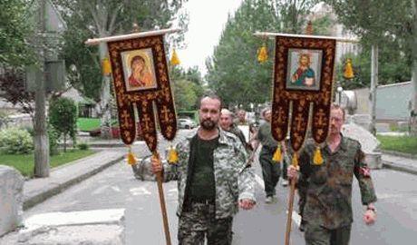 В Донецке люди прошли крестным ходом и помолились за Стрелкова