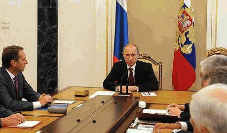 Путин провел заседание с членами Совета Безопасности, по вопросам гуманитарной катастрофы в Украине