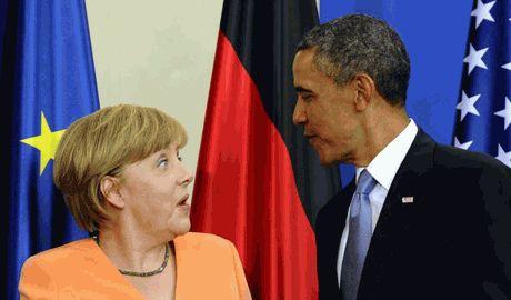 Обама и Меркель предупредили Кремль о пагубных последствиях в случаи вторжения в Украину