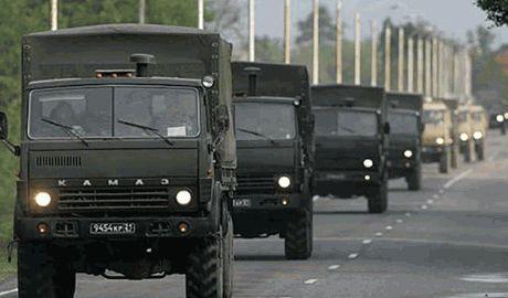 Сорок КАМАЗов с контрактниками РФ едет на Донецк, – очевидцы