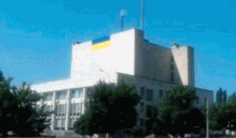 В Рубежном водрузили 8-ми метровый флаг Украины ФОТО