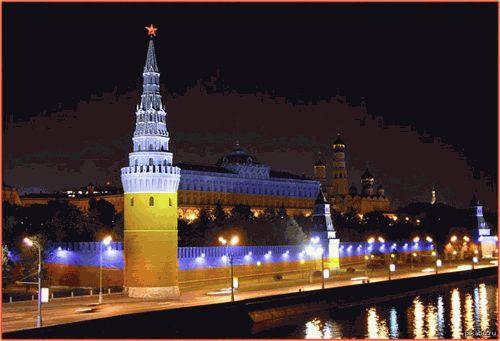 В РФ продолжают поддерживать Украину разрисовывая здания в желто-голубые цвета ФОТО