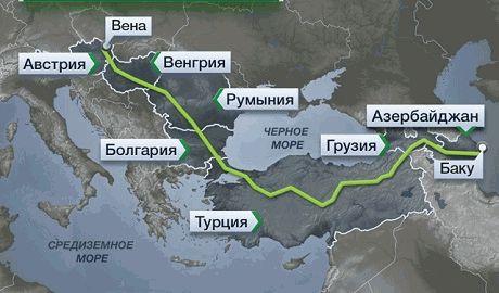 Иран готов начать поставки газа в Европу по газопроводу Набукко