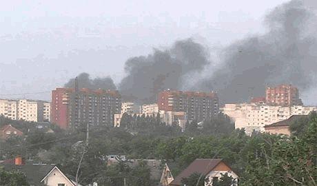 Силы АТО установили первый блокпост в Донецке