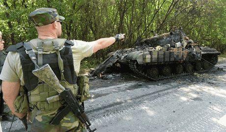 Силами АТО разгромлена крупная группировка террористов на подходах к Попасной