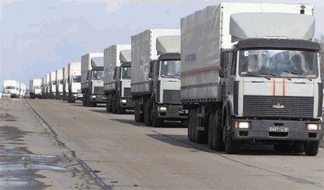 """На встречу Путинским КАМАЗам, в сторону Луганска направляется украинская """"гуманитарная колонна"""""""