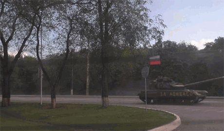 Ночью на территорию Луганской области зашла колонна военной техники из РФ