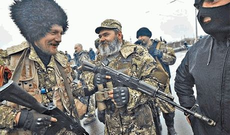 В Макеевке жители прогнали боевиков Видео
