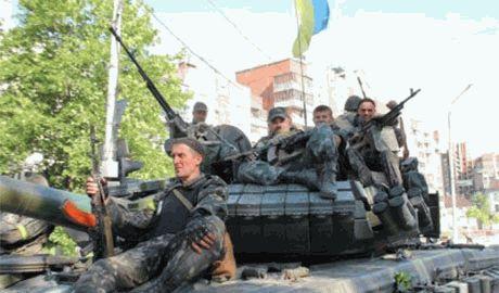 Колонна из 30 украинских танков вошла в Луганск через освобожденную Станицу