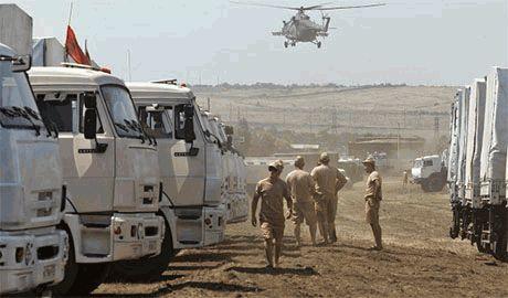 Большая часть груза «гуманитарного конвоя» Путина — обычная вода и соль, — штаб АТЦ