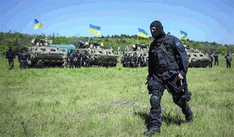 Силы АТО уничтожили базу террористов под Луганском