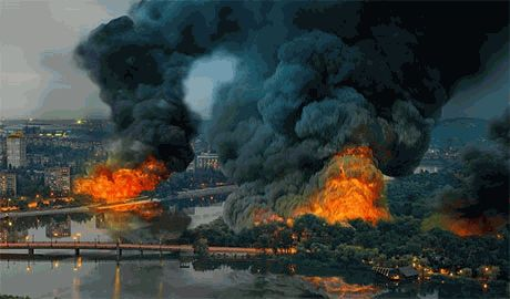 Донецк горит. Террористы ведут артобстрел сил АТО из дворов жилых домов города